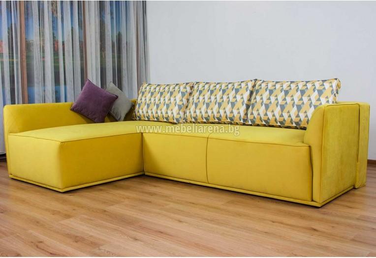 Разтегателен ъглов диван
